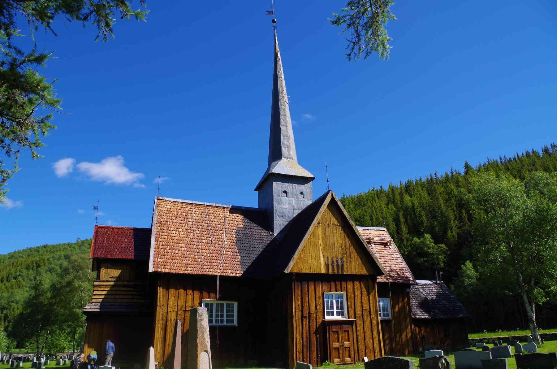 Takspon på gamle kirker